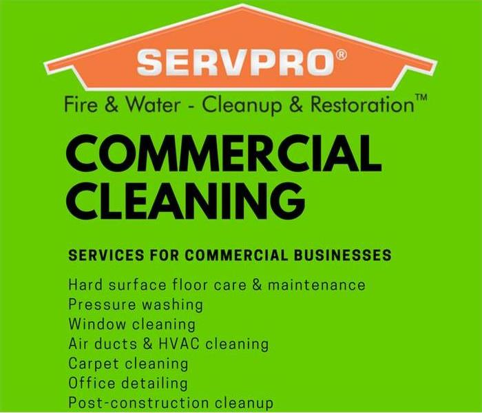 Commercial Cleaning Services by SERVPRO of West Springfield & Newington