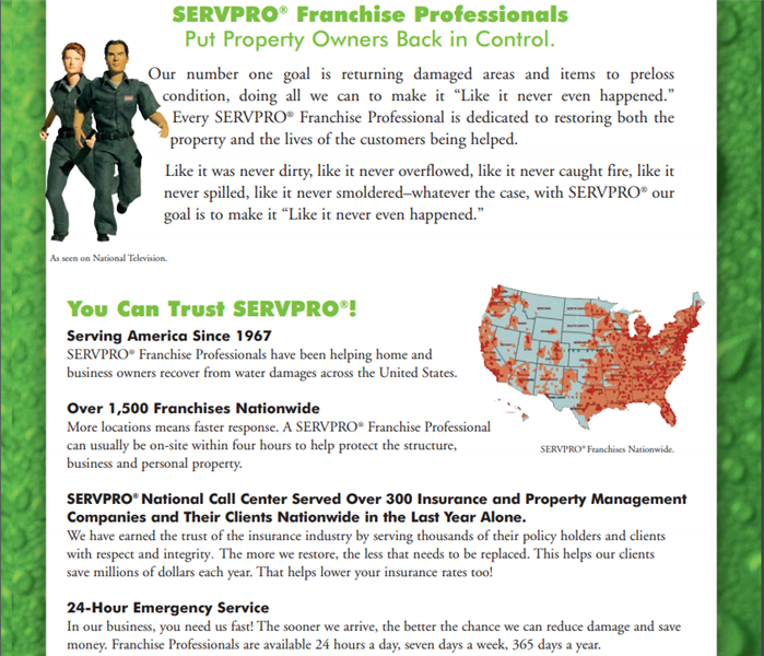 Why SERVPRO? #1